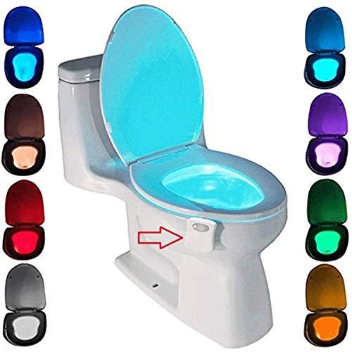 WC luz nocturna, ZSZT LED Luz de Inodoro Luz con Detección...
