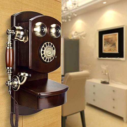 WanNing Vintage teléfono de Pared clásico marrón Retro...