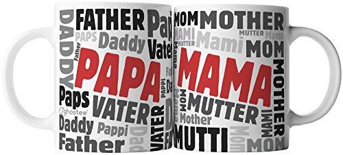 ghostee taza de café Set de 2 - Mama, Mother, Mom, Mutter &...