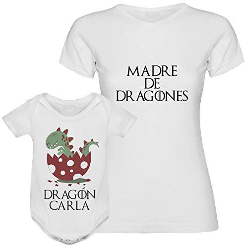 Regalo día de la madre camiseta madre personalizada + Body...