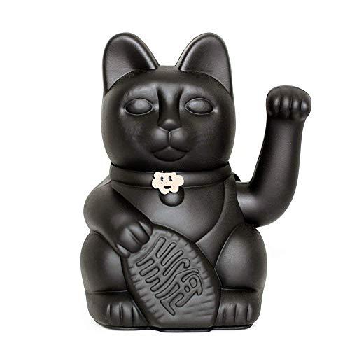 Gato de la Suerte chino. Lucky Cat. Maneki Neko. COLOR NEGRO...