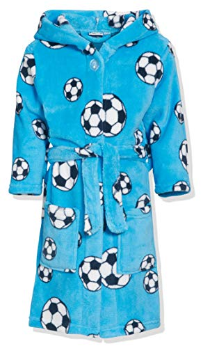 Playshoes Fleece-Bademantel Fußball Albornoz, Azul...