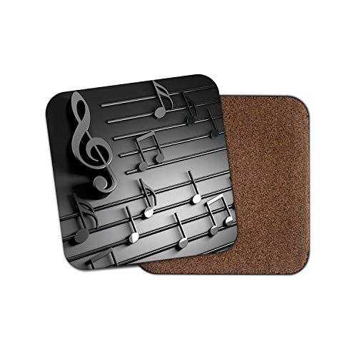 1 x Hermoso posavasos de notas musicales – Music Teacher...
