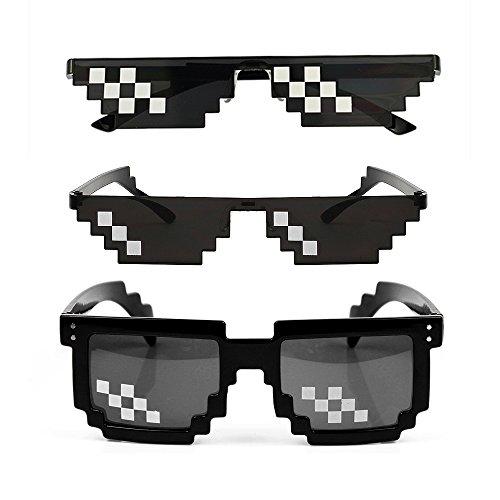YSSHUI [3 unidades] Thug Life Gafas de sol, para hombres y...