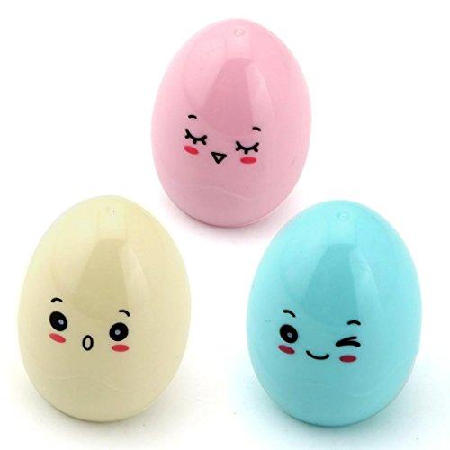 Westeng Pack de 3 Kawaii Cartoon Diseño de huevos de...