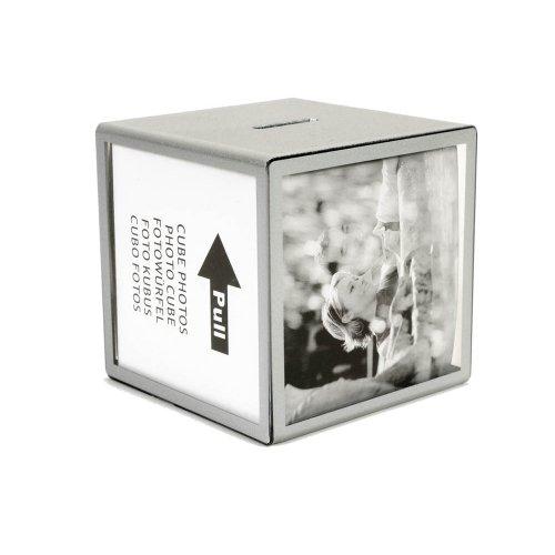 HAB & GUT -FRBOX001- Hucha con Fotos, Plata, Cubo 9,5 x 9,5...