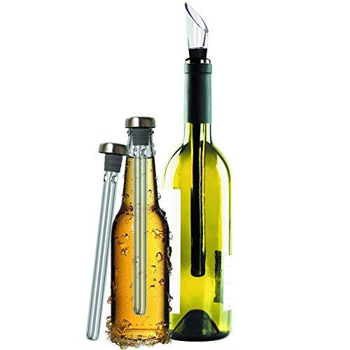 Original Regalo Enfriador de Vino y Cerveza Set de 2 -...