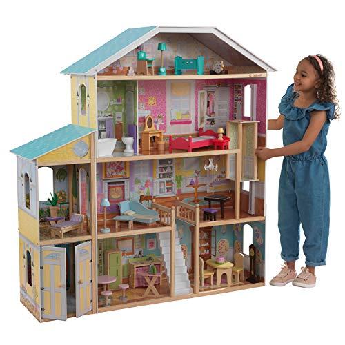 KidKraft 65252 Casa de muñecas de madera Majestic Mansion...