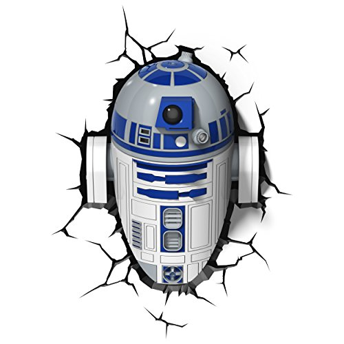 Star Wars FX14233 Lampara 3D de Pared R2 D2, Multicolor,...