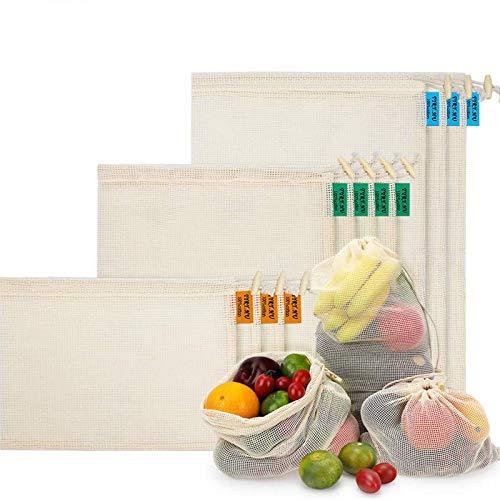 Bolsas de Malla Reutilizables, Bolsas de Comestibles 10...