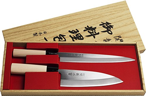 Juego de 2 Cuchillos Japoneses SekiRyu Sashimi y Deba -...