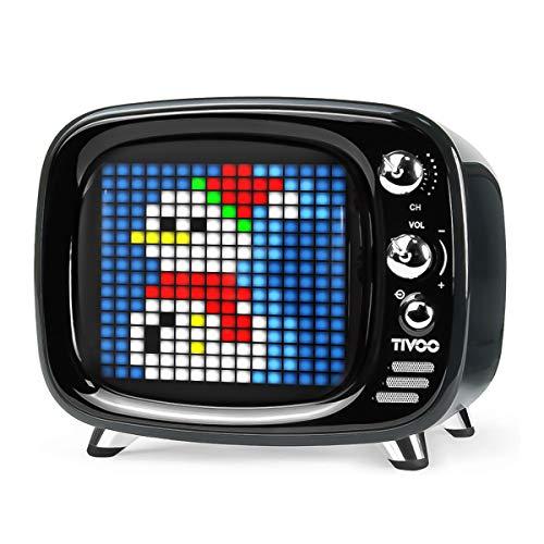Divoom Tivoo - Altavoz portátil con pantalla, color negro