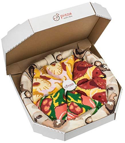 Rainbow Socks - Pizza MIX Italiana Hawaiana Pepperoni Mujer...