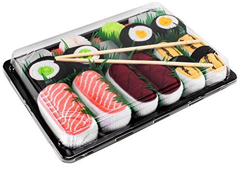 Rainbow Socks - Mujer Hombre Calcetines Sushi Salmón Tamago...