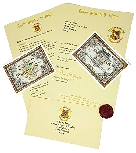Harry Potter Carta de Aceptación Personalizada Estilo...