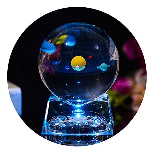 Bola de Cristal 3D con modelo de Sistema Solar y Base de...