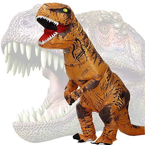 JASHKE Disfraz Dinosaurio Inflable Adulto Traje Dinosaurio...