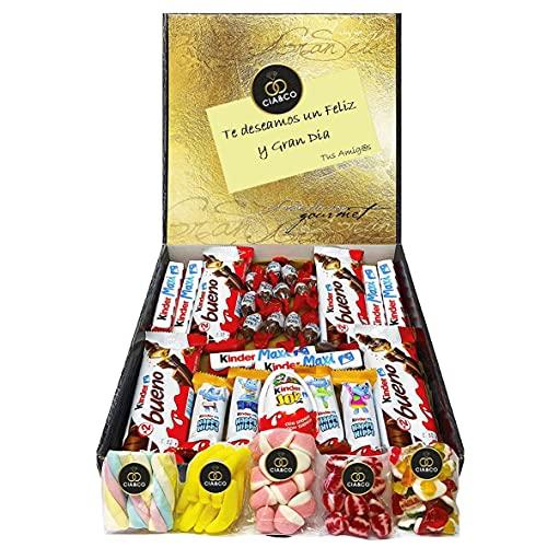 Lote para Regalo +25 Chocolates Kinder y 450 grs de Chuches,...