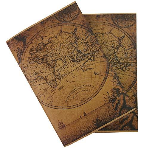 Inserciones de Cuaderno de Viaje Vintage - Papel En Blanco...
