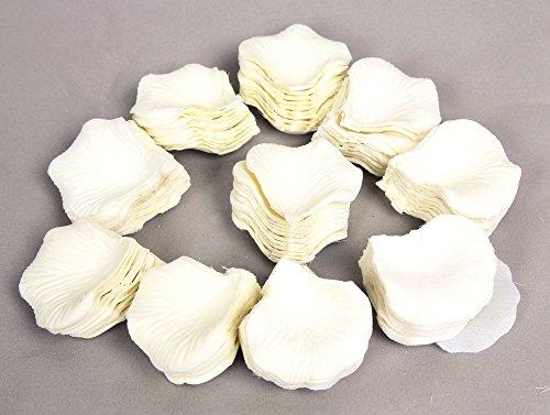1000Uds. Pétalos de Rosa en Seda Blanco para Decoración...