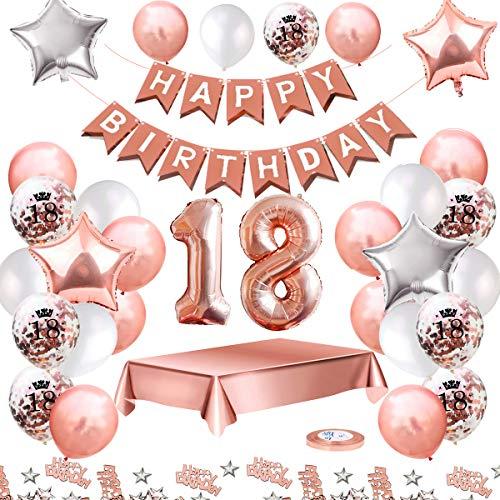 MMTX Globos De Cumpleaños 18 Años Feliz Cumpleaños...
