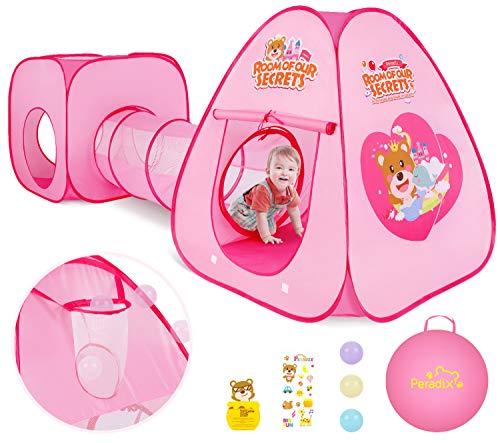 Peradix Tienda Campaña para Niños con túnel de casa de...