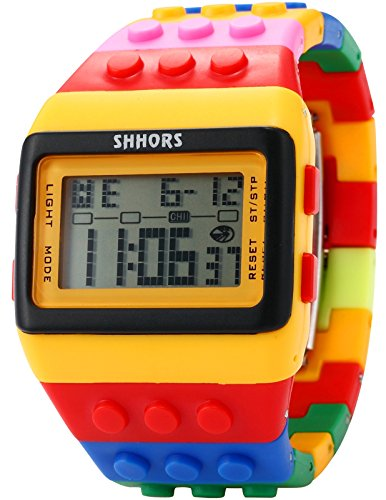 SHHORS Reloj LED, Colores del Arcoiris, Creativo, Pulsera de...