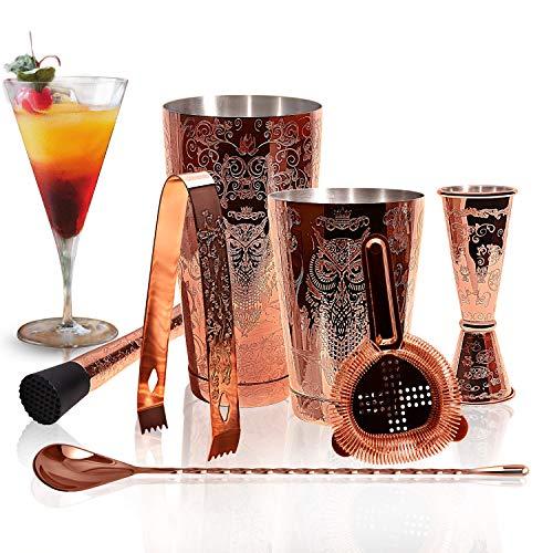 SKYFISH juego de coctelera- Kit de coctelera de cobre...