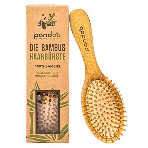 Pandoo cepillo de bambú con cerdas naturales - Vegano,...