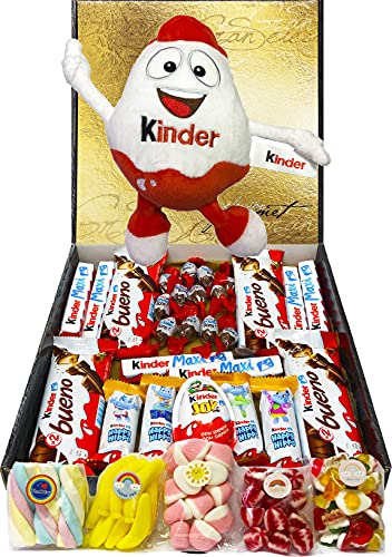 Cesta Regalo Kinder Chocolates y Chuches, Contiene Kinder...