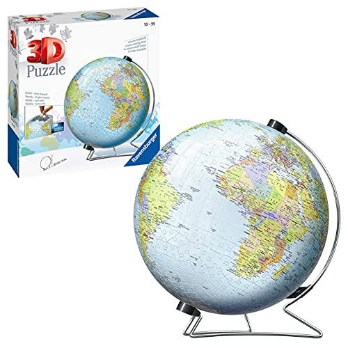 Ravensburger 12436 Globo 3D Puzzle, 540 Piezas, Multicolor,...