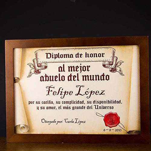 Calledelregalo Diplomas pergamino Personalizados para Todos...