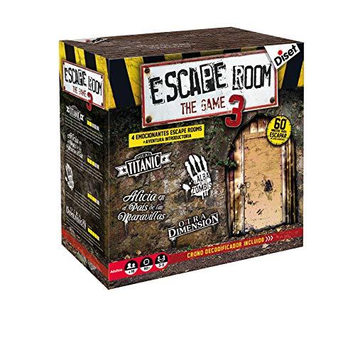 Diset - Escape Room - The Game 3 Juego de Mesa, Multicolor,...