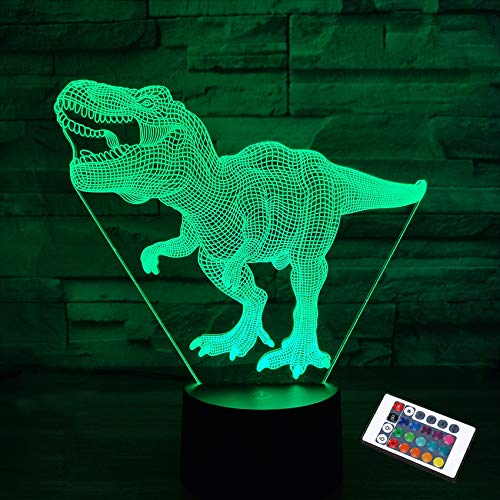 Regalos de dinosaurios, luz nocturna para niños, dinosaurio...