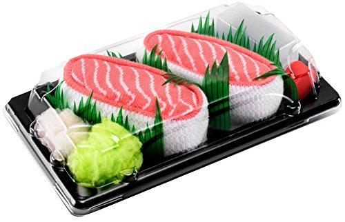 Rainbow Socks - Mujer Hombre Calcetines Sushi Salmón - 1...