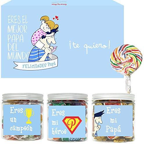 SMARTY BOX Caja Regalo Día del Padre Caramelos y Gominolas...