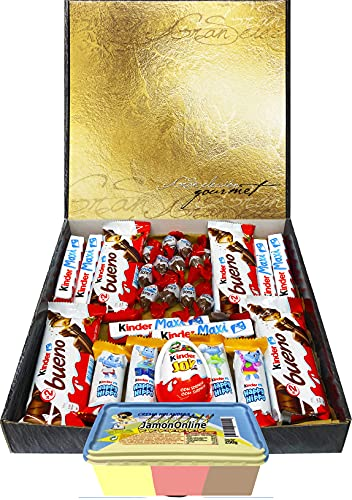 Cesta Regalo Kinder Chocolate y Crema 3 Sabores, Contiene...