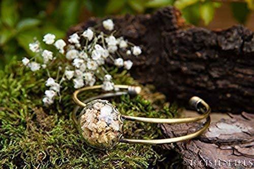 Brazalete de gypsophila - Pulsera de flores secas naturales...