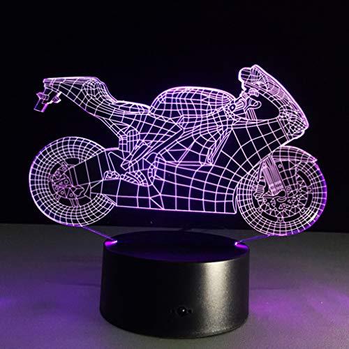 LEDMOMO Lámpara 3D con diseño de motocicleta, luz nocturna...