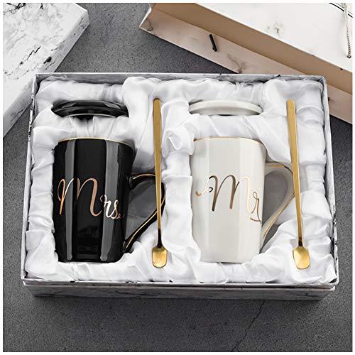 Juego de tazas de café para parejas, regalo de boda para...
