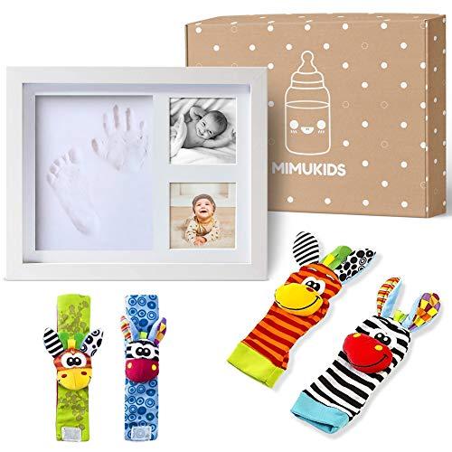 MIMUKIDS marco huellas bebe con sonajeros bebes pies y manos...