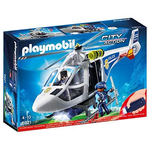 PLAYMOBIL City Action Helicóptero de Policía con Luces...