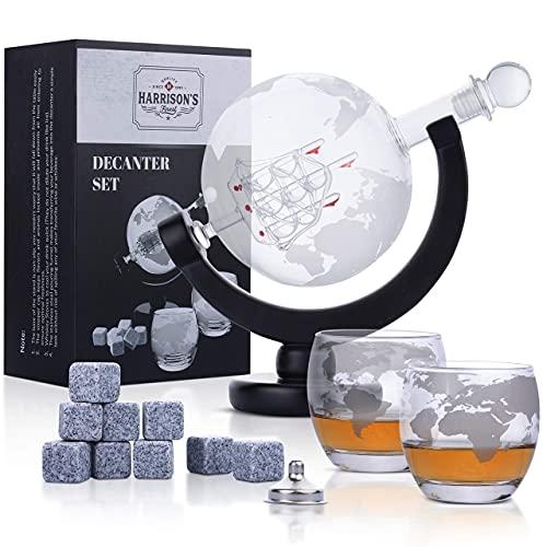 Garrafa de whisky de vidrio - Juego de jarra de whisky de...