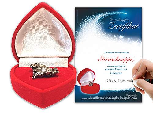 Auténtico meteorito en caja de corazón rojoIncluye...
