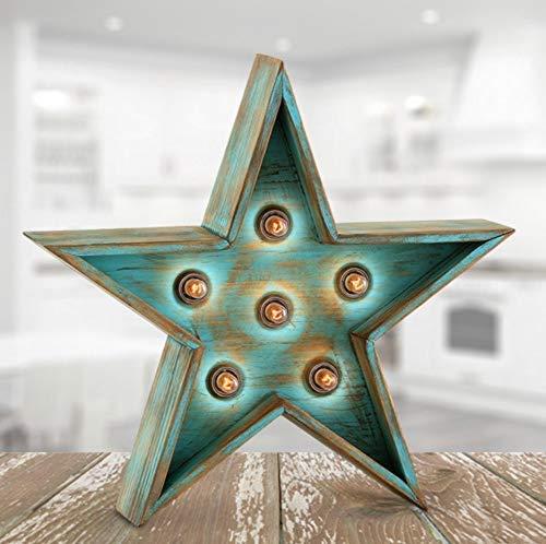 oferta rebajas lampara forma estrella luminosa de madera de...