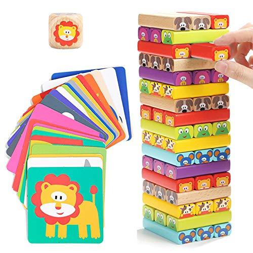 Nene Toys - Torre de Bloques Infantil de Madera 4 en 1 con...
