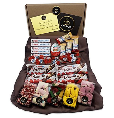 Lote para Regalo +25 Chocolates Kinder y 450 grs de Chuches...