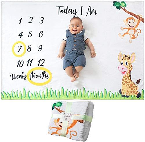Manta Mensual De Hito Para Bebé, Unisex | Manta Mensual De...