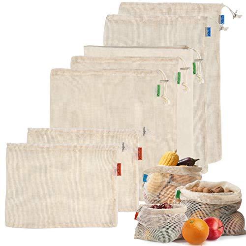Viedouce 7 Paquete Reutilizable Producir Bolsas,Bolsa de...