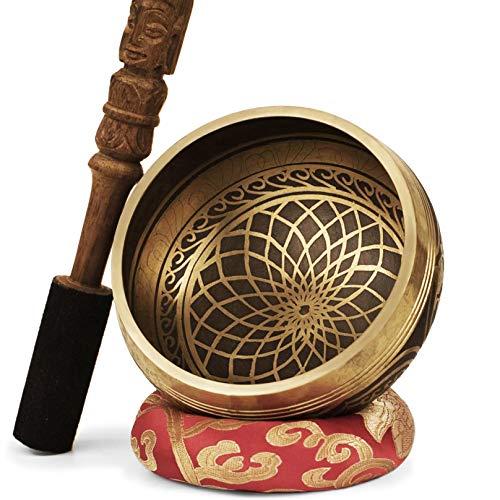 TARORO Cuenco Tibetano; Ø13cm; hecho a mano en Nepal ~...